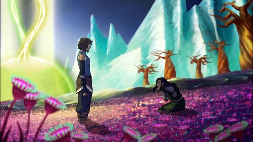 Avatar: The Legend of Korra wallpaper titled Kuvira and Korra