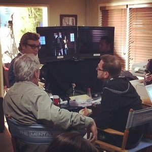 Last 日 on Set of The Mentalist
