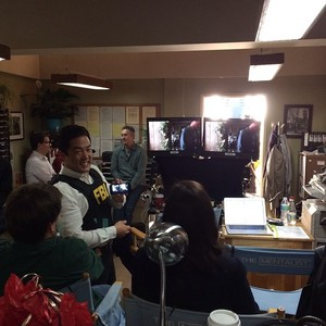 Last ngày on Set of The Mentalist