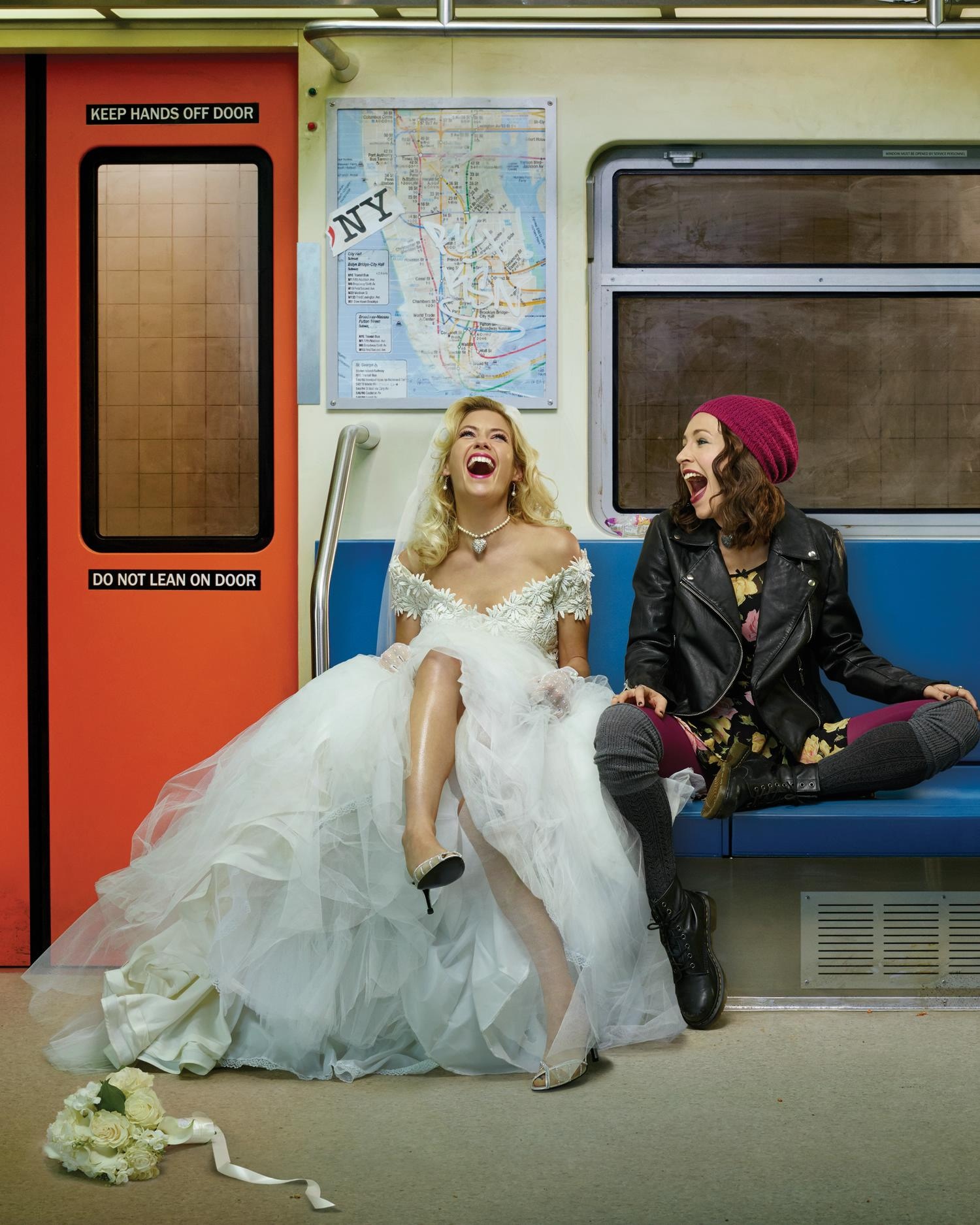 Laura Ramsey and Sarah Goldberg in 'Hindsight'