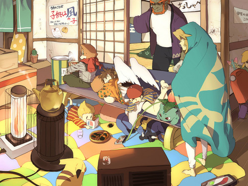 Super Smash Bros. Brawl karatasi la kupamba ukuta called Lazy siku