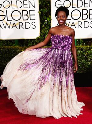 Lupita Nyong'o at the 72nd Annual Golden Globe Awards
