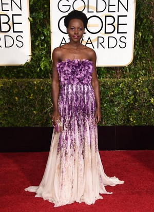 Lupita Nyong'o at the 72nd Annual Golden Globe Awards