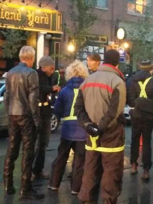 Mads Mikkelsen on the set of 'Hannibal'