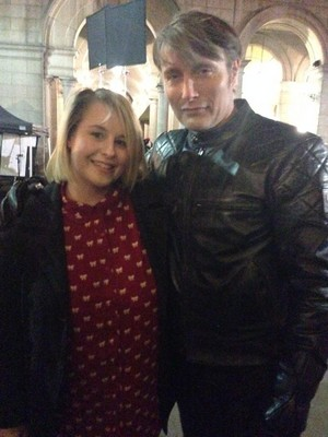 Mads Mikkelsen on the set of 'Hannibal'