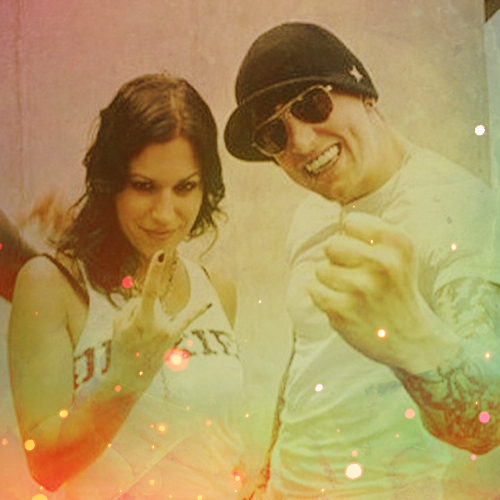 Avenged Sevenfold wallpaper titled Matt Shadows and Cristina Scabbia