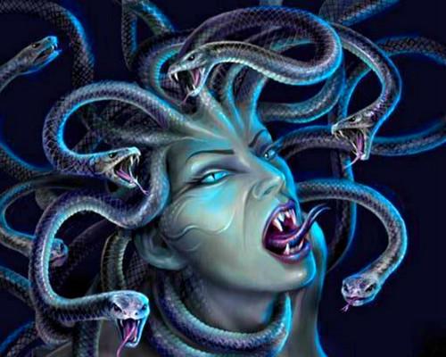 Fantasy wallpaper titled Medusa