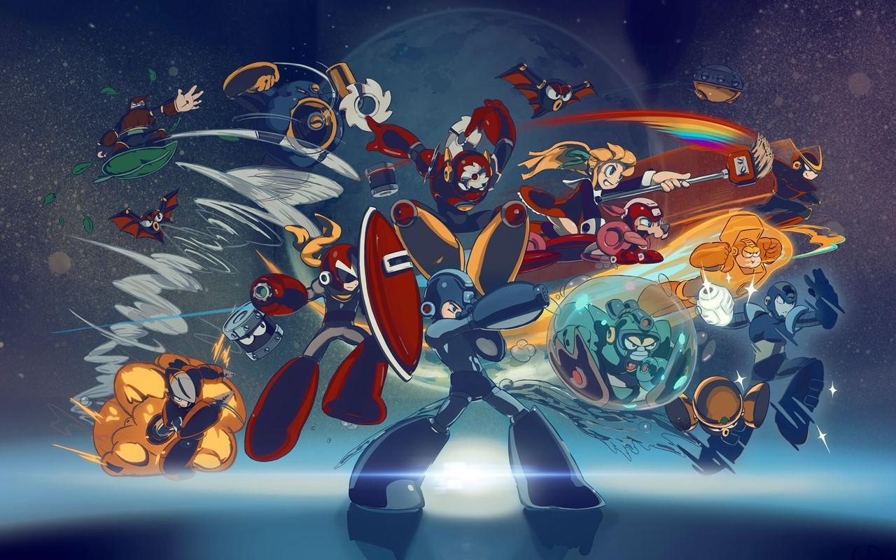 Mega Man karatasi la kupamba ukuta