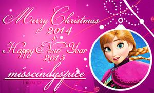 Merry natal 2014 & Happy New ano 2015 misscindyspice!