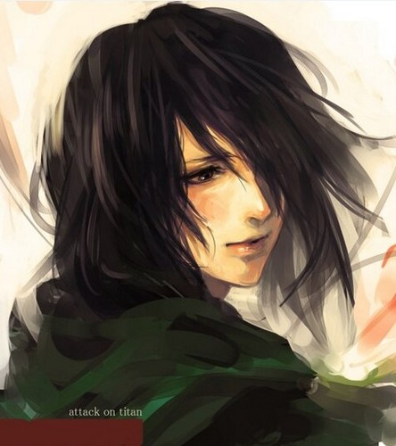 Shingeki no Kyojin (Attack on titan) wolpeyper probably with a portrait entitled Mikasa Ackerman