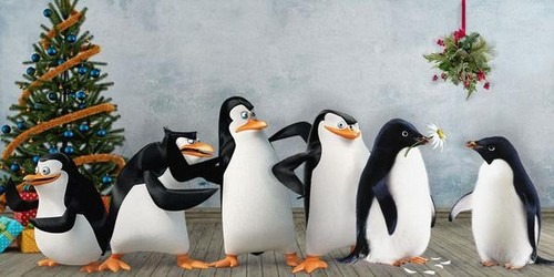 पेंग्विन्स ऑफ मॅडगास्कर वॉलपेपर with an emperor पेंगुइन called Monty, Mabel, and the Penguins of Madagascar