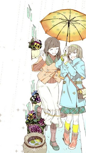 Tokyo Ghoul wallpaper possibly containing a parasol titled Mother and Daughter