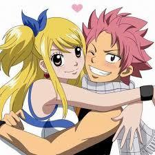 Nastu and Lucy hug