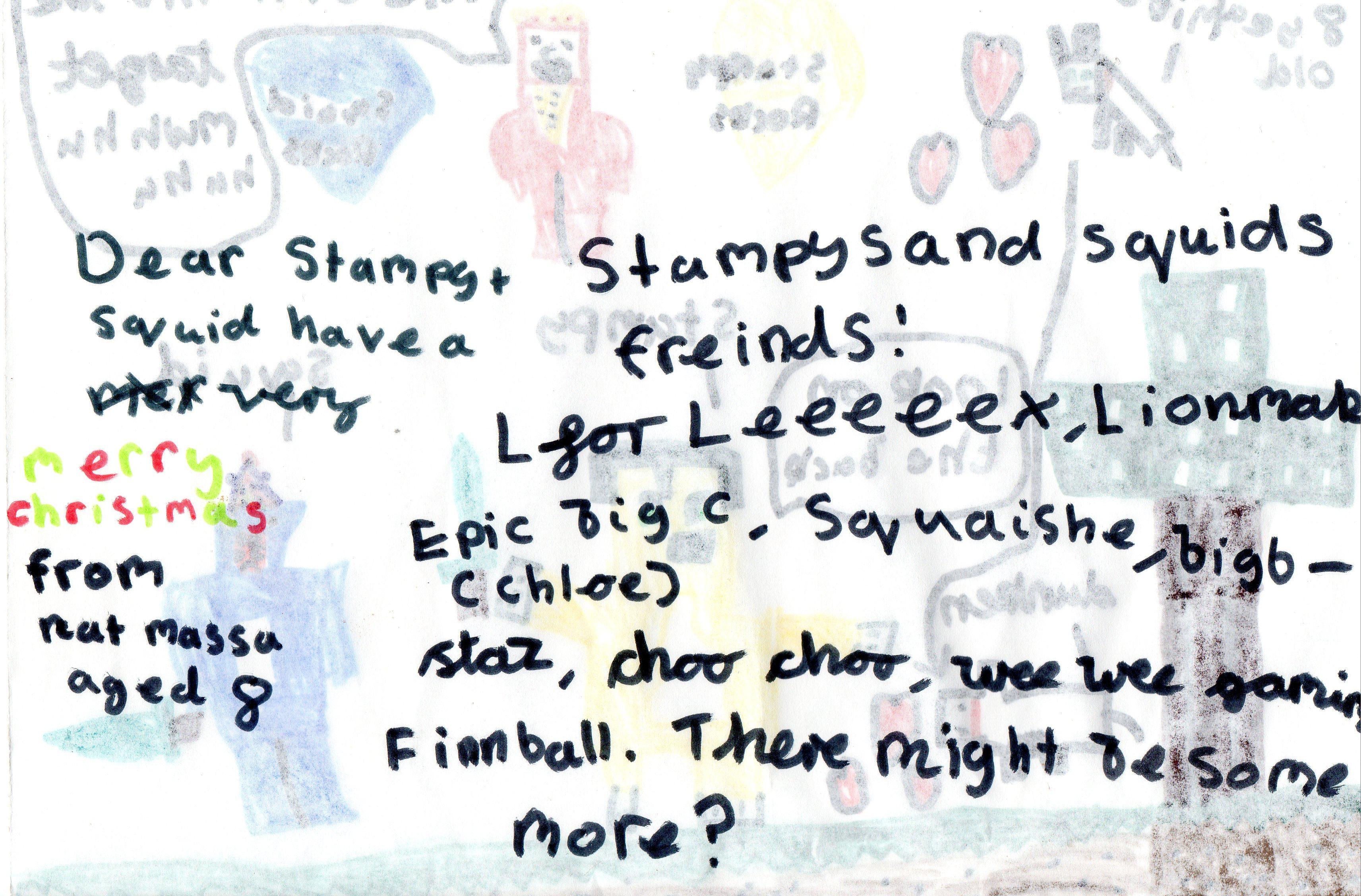 Nat Massa's message to Stampy and Squid