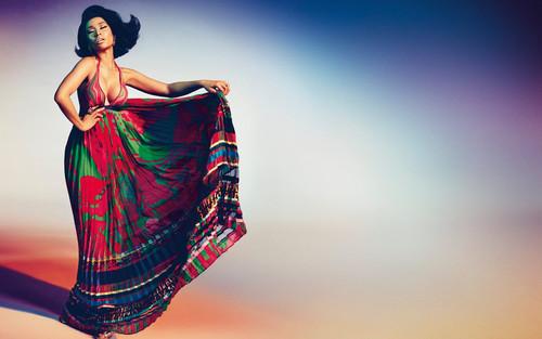 Nicki Minaj Hintergrund probably with a abendessen dress entitled Nicki Minaj for Roberto Cavalli