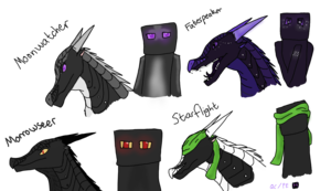 NightWings as Endermen