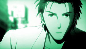 Okabe - Running, always running.