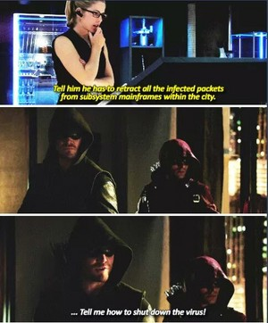 Oliver, Felicity and Roy