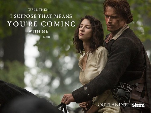 Siri TV Outlander 2014 kertas dinding titled Outlander Season 1 promotional picture