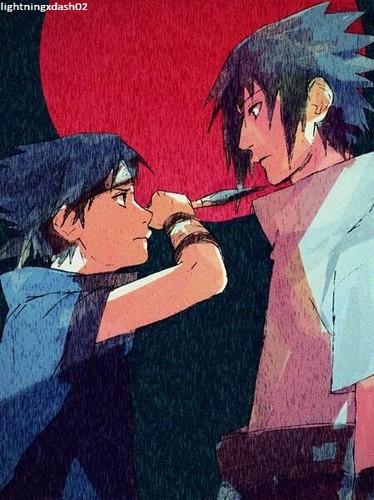 Sasuke Ichiwa fond d'écran with animé entitled Past and Future