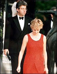 Princess Diana karatasi la kupamba ukuta possibly containing a business suit titled Patrick Jephson - Pricess Diana and Private Secretary