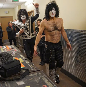 Paul Stanley and Tommy Thayer Backstage In Las Vegas January 2015