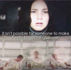 Peeta forget he loves Katniss