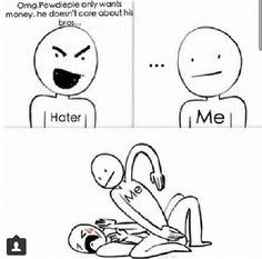 Pewdiepie ファン vs. the hater