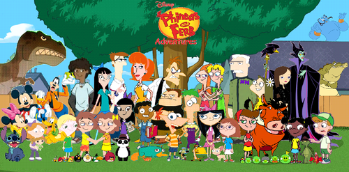 phineas e ferb wallpaper probably with a sign called Phineas and Ferb