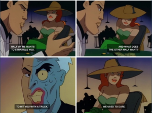 Poison Ivy and Two-Face