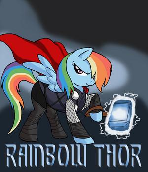 pelangi, rainbow Thor