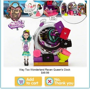 Raven 皇后乐队 Way too Wonderland Playset 2015