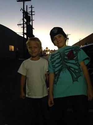 Ryder Londo with a fan
