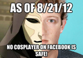 SAY NO TO COSPLAY ON FACEBOOK