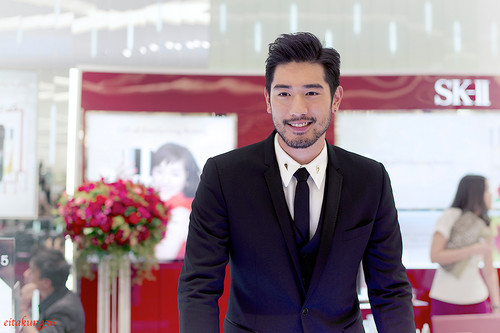 Godfrey Gao wallpaper with a business suit, a suit, and a three piece suit entitled SK - II event