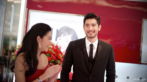Godfrey Gao wallpaper containing a business suit titled SK - II event