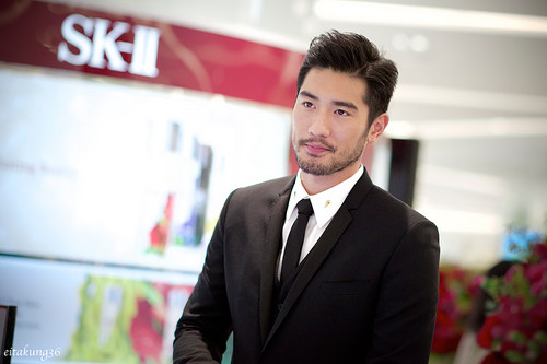 Godfrey Gao wallpaper containing a business suit, a suit, and a two piece entitled SK - II event