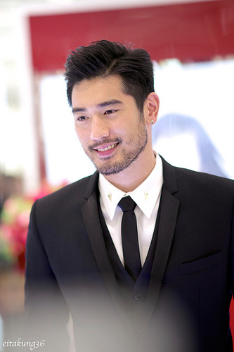 Godfrey Gao wallpaper with a business suit, a suit, and a two piece called SK - II event