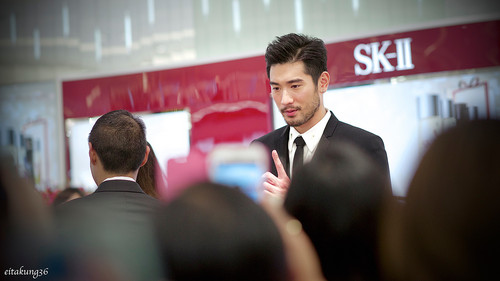 Godfrey Gao wallpaper with a business suit, a suit, and a three piece suit called SK - II event