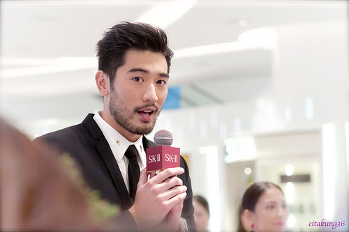 Godfrey Gao wallpaper probably with a business suit entitled SK - II event