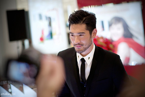 Godfrey Gao wallpaper with a business suit, a suit, and a two piece titled SK - II event