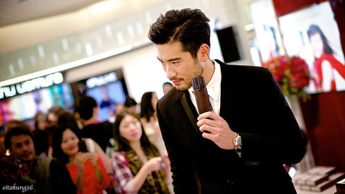 Godfrey Gao achtergrond titled SK - II event