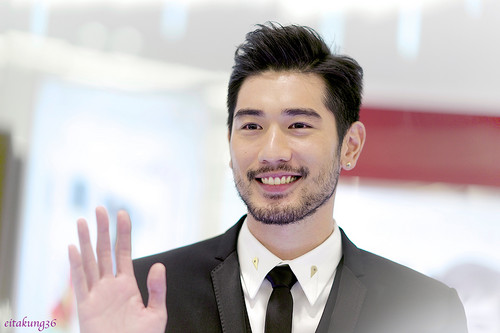 Godfrey Gao wallpaper containing a business suit and a suit entitled SK - II event