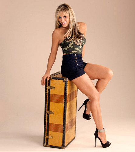 WWE Divas wallpaper probably containing a hip boot called Salute to the Troops - Lilian Garcia