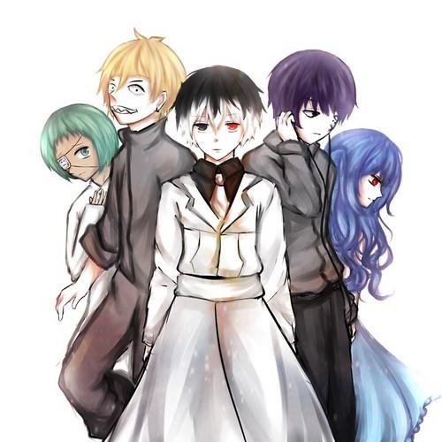 Tokyo Ghoul karatasi la kupamba ukuta titled Saserious Squad