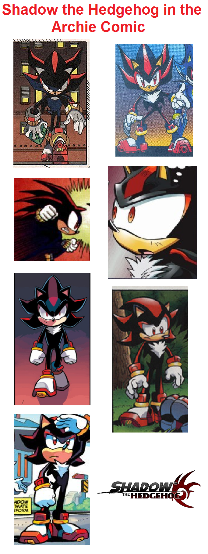 Shadow the Hedgehog in Archie Comic