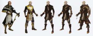 Solas concept art in The Art of Dragon Age: Inquisition