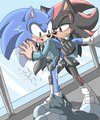 Sonic and Shadow making out  - sonadow photo