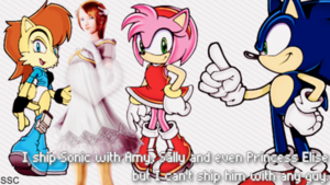 Sonic is not allowed to ship with guys