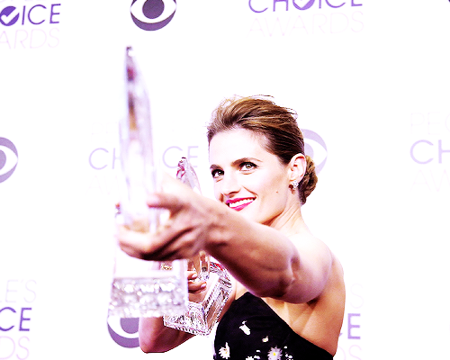 Nathan Fillion & Stana Katic fond d'écran with a portrait titled Stana at the PCA's 2015
